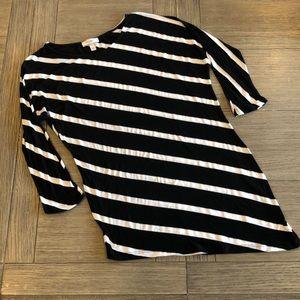 Dressbarn knit asymmetric top shirt blouse stretch
